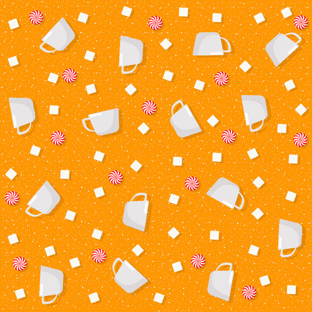 Candy theme seamless patterns. For decoration, print, wrapping paper or advertising. Banco de Imagens - 117175453