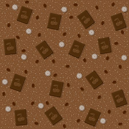 Candy theme seamless patterns. For decoration, print, wrapping paper or advertising. Banco de Imagens - 117175454