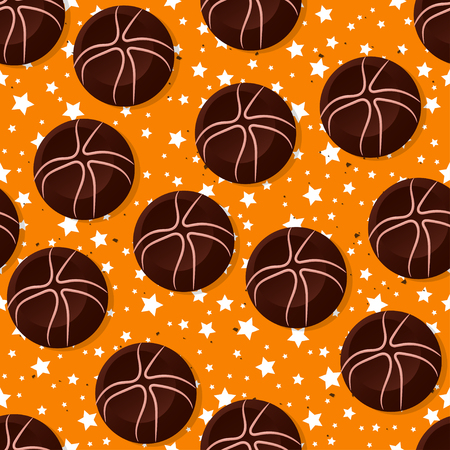 Candy theme seamless patterns. For decoration, print, wrapping paper or advertising. Ilustração
