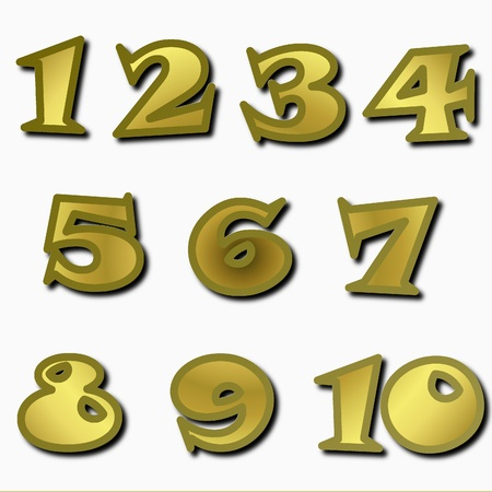 the background of the numbers from 1 up to 10
