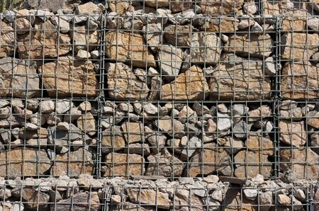 reinforced: texture of stone wall reinforced