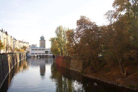 manes: Manes Tower in Prague during autumn