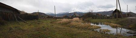Village in Altai in Russia