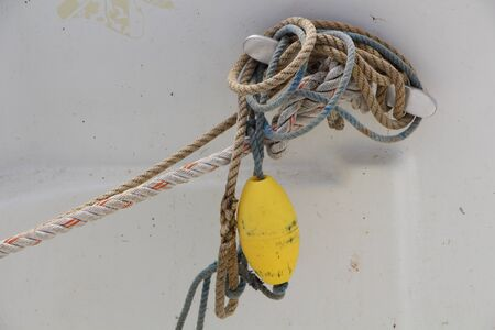 buoy: buoy and ropes on a boat