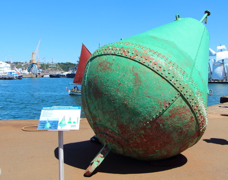 starboard: Starboard buoy on the dock