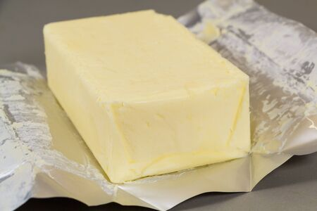 Pack of salted butter unwrapped