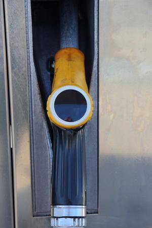 Fuel dispenser of gasoline at service station in France