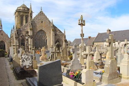 Cemetery of Saint Ronan church in the village of Locronan