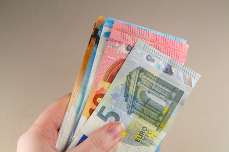 To hold banknotes of five, ten, twenty and fifty euros Banco de Imagens - 124986542