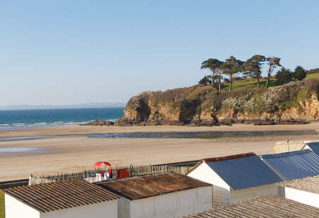 Ris beach in Douarnenez at low tide