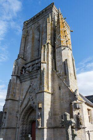 Outdoors of Saint Tugen chapel in Primelin Imagens - 132682225