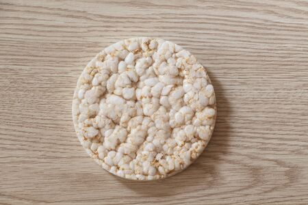 Puffed rice cake for breakfast or snack