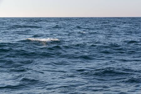Atlantic ocean with waves in Brittany 版權商用圖片