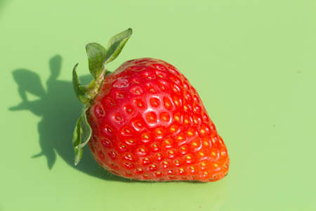 Strawberry on green background after harvesting in a vegetable garden Standard-Bild