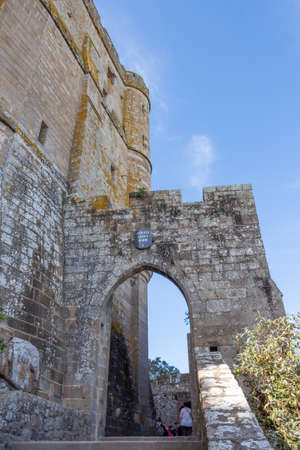 Wall and arch of Abbey of Mont Saint-Michel