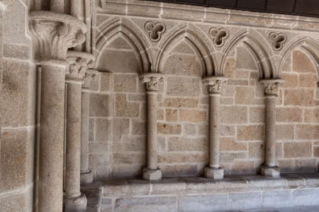 Detail of the cloister in abbey of Mont Saint-Michel