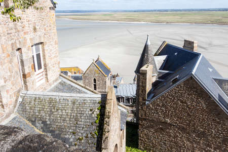View of Mont Saint-Michel bay from its ramparts