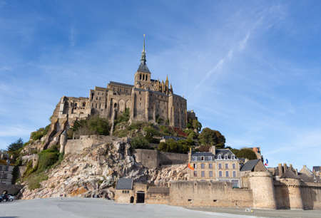 Mont Saint-Michel and its abbey at low tide