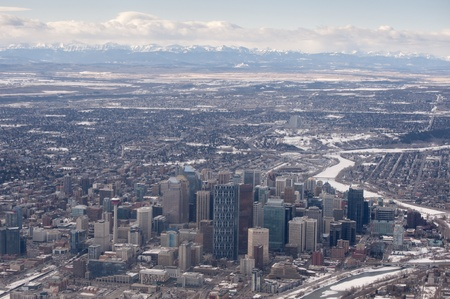 Downtown Calgary Aerial Photo