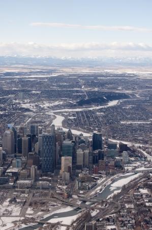 Downtown Calgary Aerial Photo photo
