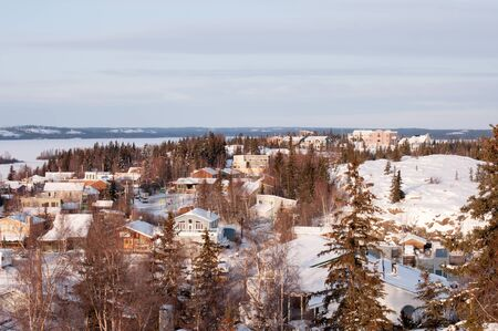 Houses at Old Town,Yellowknife  Archivio Fotografico