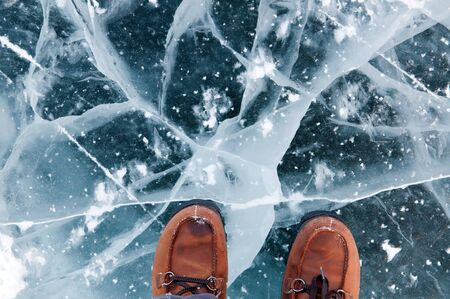 ice: Ice on a  lake