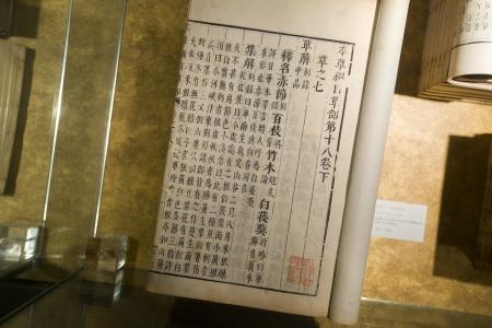 La medicina cinese antico libro con tracciati di ritaglio