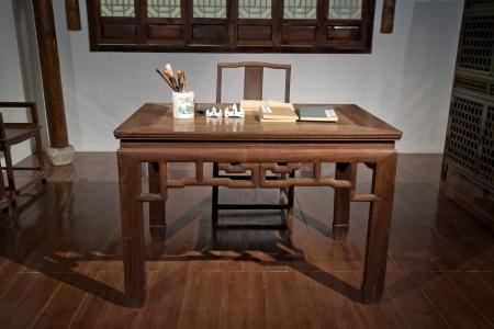 tallado en madera: Madera antigua Foto de archivo