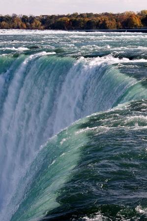 the edge of horseshoe falls: Magnificient Niagara Falls Stock Photo