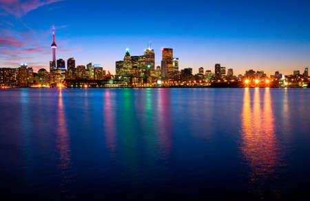 Toronto skyline by night  photo