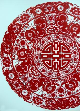 arts symbols: Paper Cut Crane Stock Photo