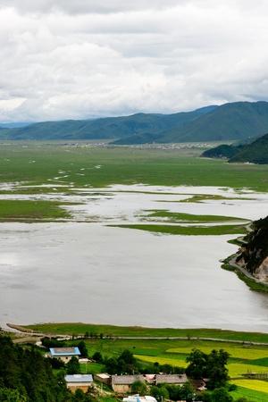 Landscape of Shangri-La tibetan village
