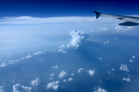 tripping: Aerial view from an airplane Stock Photo