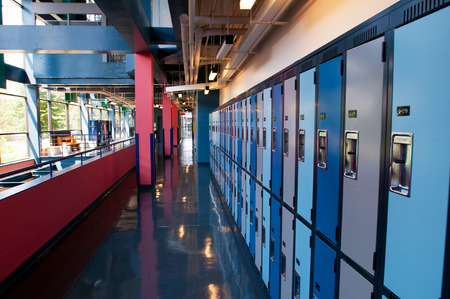 elevated walkway: modern floor in a finance building