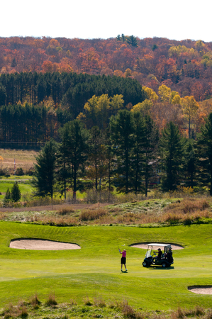 driving range: Autumn Golf Scenic