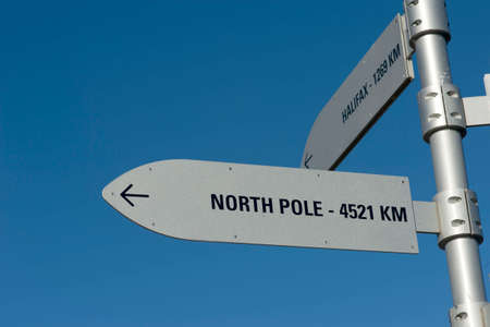 north pole and halifax Signpost