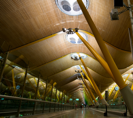 Airport terminal, Madrid Editorial