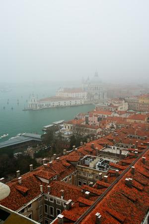 venice italy: Fog in Venice, Italy