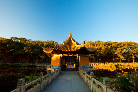 Putuo Mountain before sunset, china