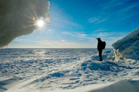 Winter Lake Huron photo