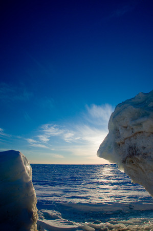 Winter Lake Huron photo
