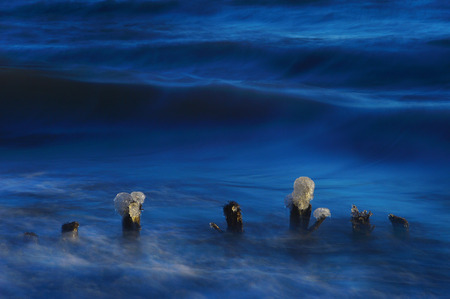 Winter lake Banco de Imagens
