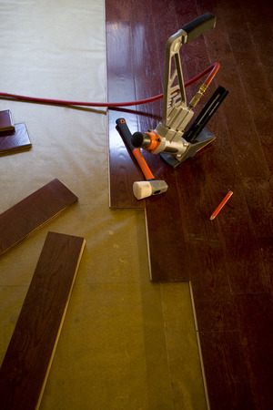Home improvement, floor installation photo