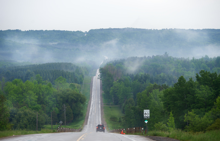 road in Russian forest  photo