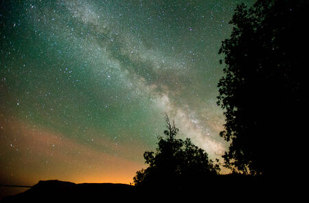 Long Exposure of Stars Stok Fotoğraf