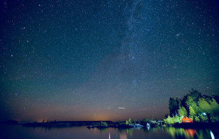 Long Exposure of Stars Stok Fotoğraf - 33083071