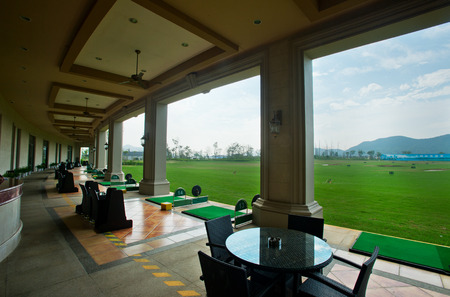 driving range: Golf course driving range ,China