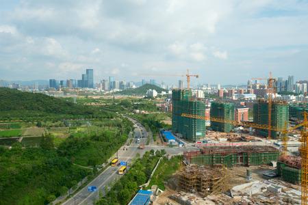 site: Concrete Construction site Stock Photo
