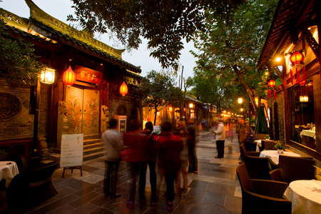 Width alley - Chengdu Commercial Street, China Stock fotó - 34859612