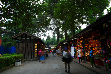 width: Jinli Ancient Street and width alley is one of the most famous tourism in chengdu old street 。CHENGDU,CHINA
